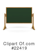 Royalty-Free (RF) Chalkboard Clipart Illustration #22419