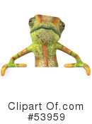 Royalty-Free (RF) Chameleon Character Clipart Illustration #53959