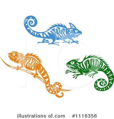 Lizard Clipart #1116356 by Vector Tradition SM