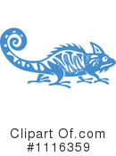 Royalty-Free (RF) chameleon Clipart Illustration #1116359
