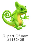 Royalty-Free (RF) chameleon Clipart Illustration #1182425