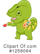 Royalty-Free (RF) Chameleon Clipart Illustration #1258064