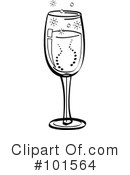 Royalty-Free (RF) champagne Clipart Illustration #101564
