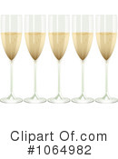 Royalty-Free (RF) Champagne Clipart Illustration #1064982