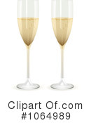 Royalty-Free (RF) Champagne Clipart Illustration #1064989