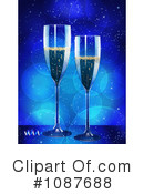 Royalty-Free (RF) Champagne Clipart Illustration #1087688