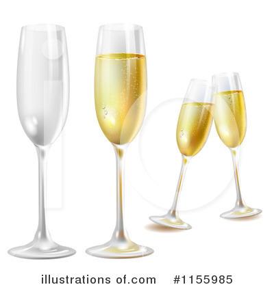 Champagne Clipart #1155985 by merlinul