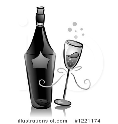 Champagne Clipart #1221174 by BNP Design Studio