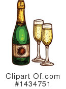 Royalty-Free (RF) Champagne Clipart Illustration #1434751