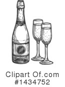 Royalty-Free (RF) Champagne Clipart Illustration #1434752