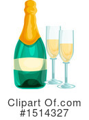Royalty-Free (RF) Champagne Clipart Illustration #1514327
