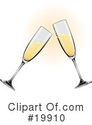 Royalty-Free (RF) champagne Clipart Illustration #19910