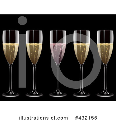 Royalty-Free (RF) Champagne Clipart Illustration by elaineitalia - Stock Sample #432156