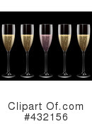 Royalty-Free (RF) Champagne Clipart Illustration #432156