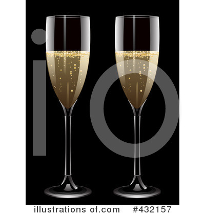 Royalty-Free (RF) Champagne Clipart Illustration by elaineitalia - Stock Sample #432157
