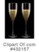 Royalty-Free (RF) Champagne Clipart Illustration #432157