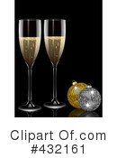 Royalty-Free (RF) Champagne Clipart Illustration #432161