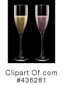 Royalty-Free (RF) Champagne Clipart Illustration #436281