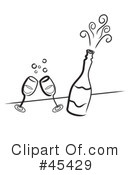 Champagne Clipart #45429 by TA Images