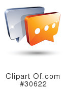 Royalty-Free (RF) chat Clipart Illustration #30622