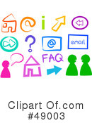 Royalty-Free (RF) Chat Clipart Illustration #49003