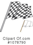 Checkered Flag Clipart #1078790 by Any Vector