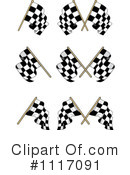 Royalty-Free (RF) checkered flag Clipart Illustration #1117091
