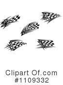 Royalty-Free (RF) Checkered flags Clipart Illustration #1109332
