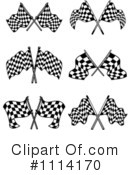 Royalty-Free (RF) checkered flags Clipart Illustration #1114170