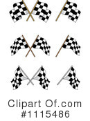 Royalty-Free (RF) checkered flags Clipart Illustration #1115486