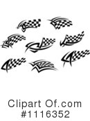 Royalty-Free (RF) checkered flags Clipart Illustration #1116352