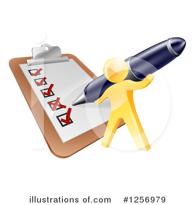 Writing Clipart #1256979 by AtStockIllustration