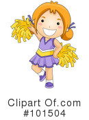 Royalty-Free (RF) Cheerleader Clipart Illustration #101504