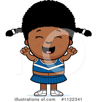 Cheerleader Clipart #1122341 by Cory Thoman
