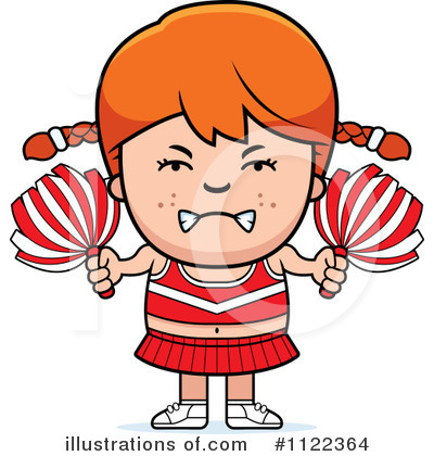 Cheerleader Clipart #1122364 by Cory Thoman
