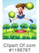 Royalty-Free (RF) Cheerleader Clipart Illustration #1188787