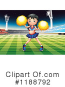 Cheerleader Clipart #1188792 by Graphics RF