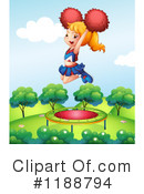 Royalty-Free (RF) Cheerleader Clipart Illustration #1188794