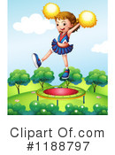 Royalty-Free (RF) Cheerleader Clipart Illustration #1188797