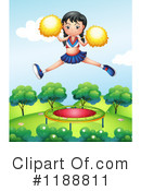 Cheerleader Clipart #1188811 by Graphics RF