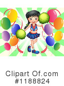 Cheerleader Clipart #1188824 by Graphics RF