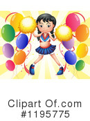 Cheerleader Clipart #1195775 by Graphics RF