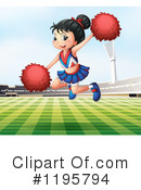 Cheerleader Clipart #1195794 by Graphics RF