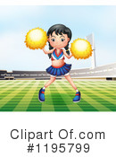 Cheerleader Clipart #1195799 by Graphics RF