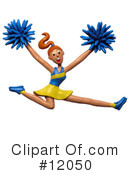 Royalty-Free (RF) Cheerleader Clipart Illustration #12050
