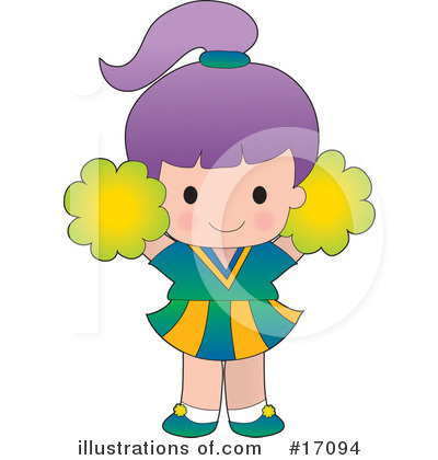 Royalty-Free (RF) Cheerleader Clipart Illustration by Maria Bell - Stock Sample #17094