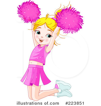 Royalty free rf cheerleader clipart illustration by pushkin stock