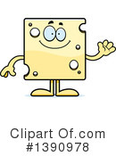 Cheese Mascot Clipart #1390978 by Cory Thoman