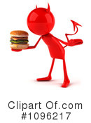 Royalty-Free (RF) Cheeseburger Clipart Illustration #1096217