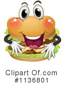Royalty-Free (RF) Cheeseburger Clipart Illustration #1136801